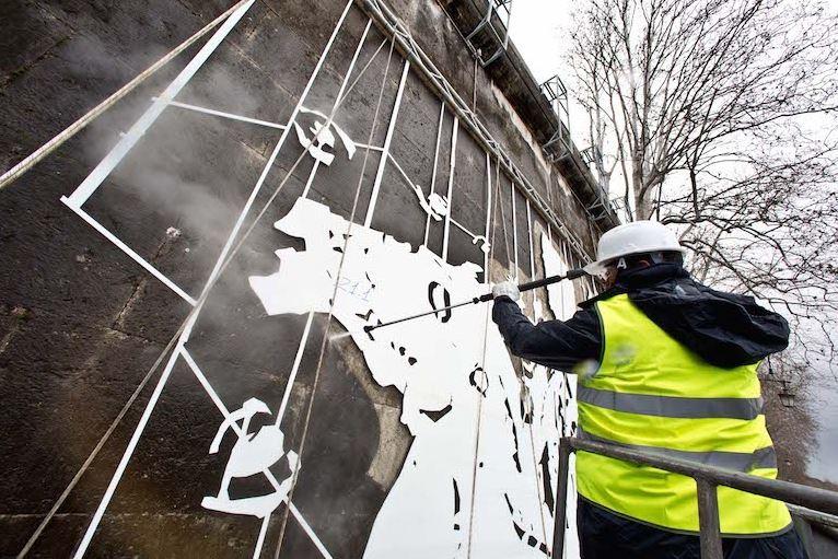 Street Art und seine Entstehung durch die Reverse-Technik