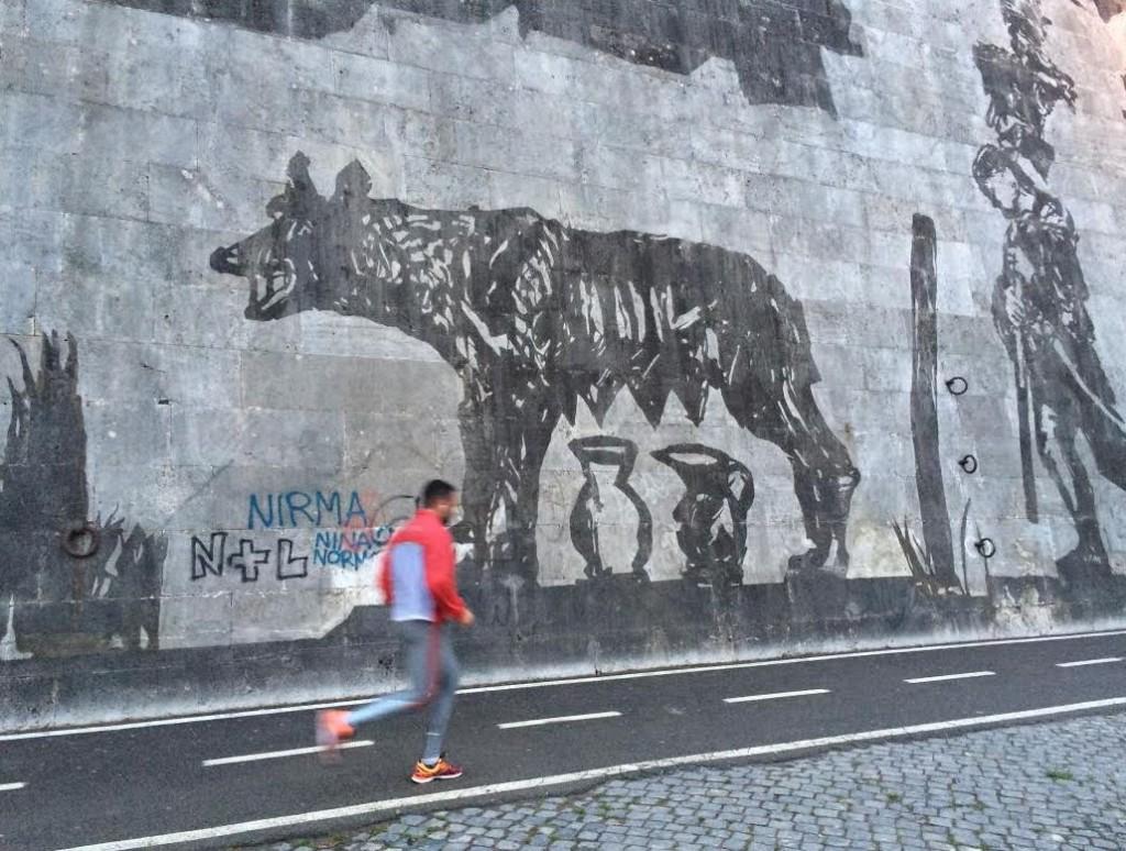 Die römische Wölfin darf nicht fehlen