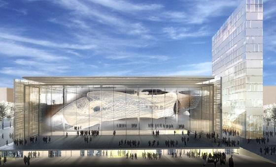 Das neue Kongresszentrum in Rom – Aussenansicht