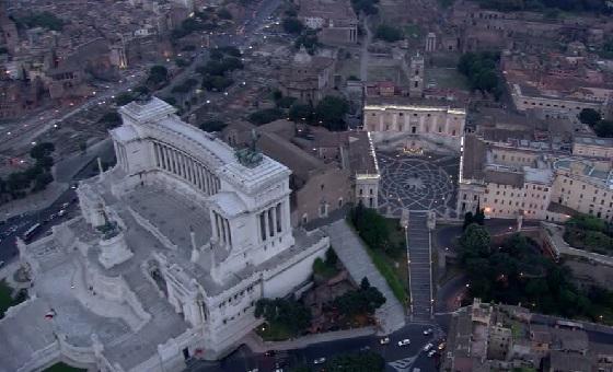 Der Kapitolshügel – «Machtzentrum» von Rom mit dem monumentalen Vittoriano im Vordergrund.