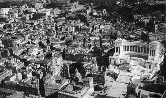Als Via di Fori Imperiali noch nicht bebaut war.