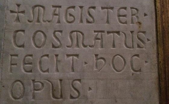 Inschrift der Kosmaten