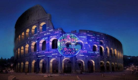 Kolosseum im Lichterglanz
