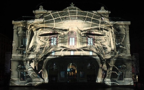 VideoMapping Programm mit Monster