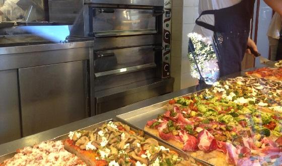 Pizza al Taglio und seine Auswahl
