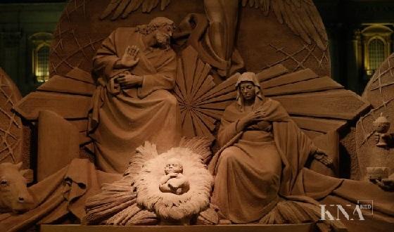 Sandkrippe vor dem Petersplatz – Heilige Familie