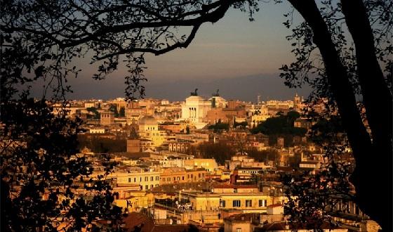 Gianicolo und seine Aussicht auf die Altstadt Roms