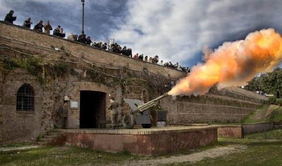 Der tägliche Kanonenschuss vom Gianicolo