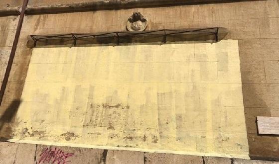 Historisches Graffiti im Garbatella übermalt