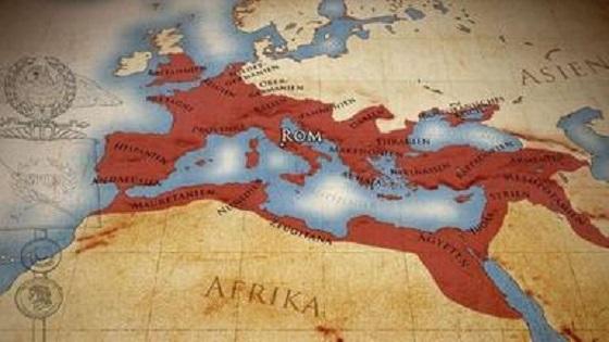 Roma caput mundi – Übersichtskarte des Römische Reichs