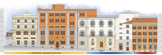 Palazzo Zuccari – und seine angrenzenden Paläste