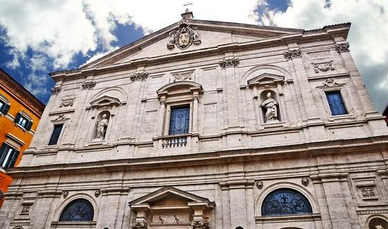 San Luigi dei Francesi (Nationalkirche der Franzosen) – Frontansicht